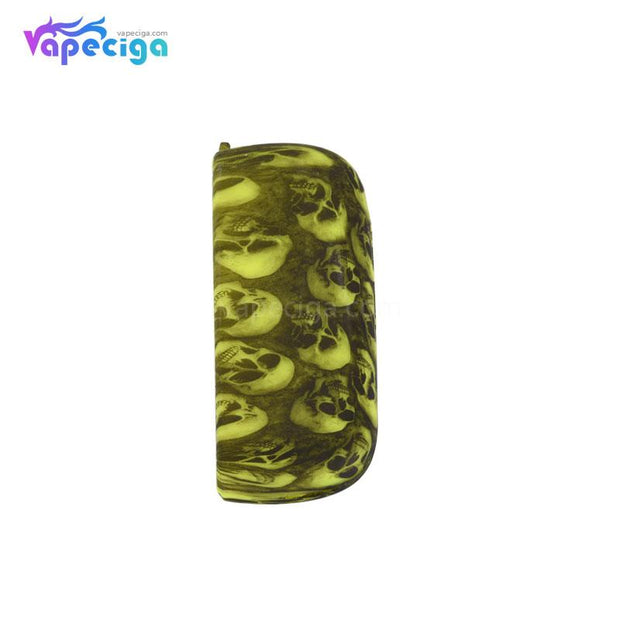 Silicone Protective Case with Skull Pattern for IQOS 3.0 - Green Skull