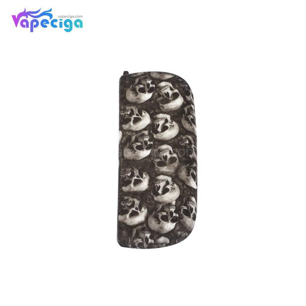 Silicone Protective Case with Skull Pattern for IQOS 3.0 - White Skull
