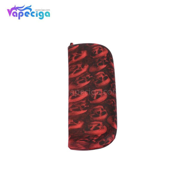 Silicone Protective Case with Skull Pattern for IQOS 3.0 - Red Skull