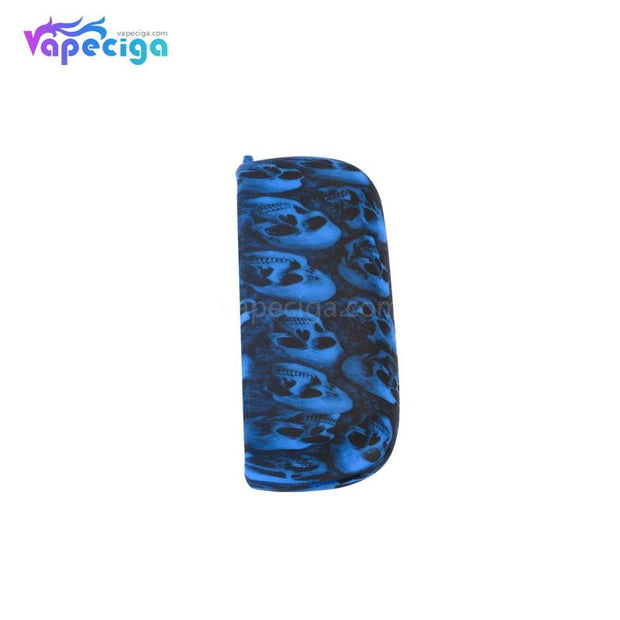Silicone Protective Case with Skull Pattern for IQOS 3.0 - Blue Skull