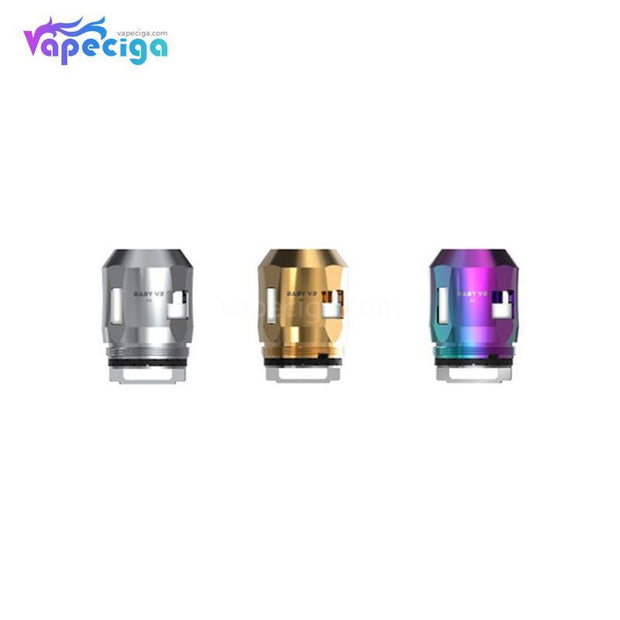 3 Smok TFV8 Baby V2 A3 Replacement Coil Head Colors Choose