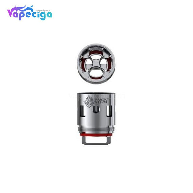 Smok V12-T8 Replacement Coil Head Details