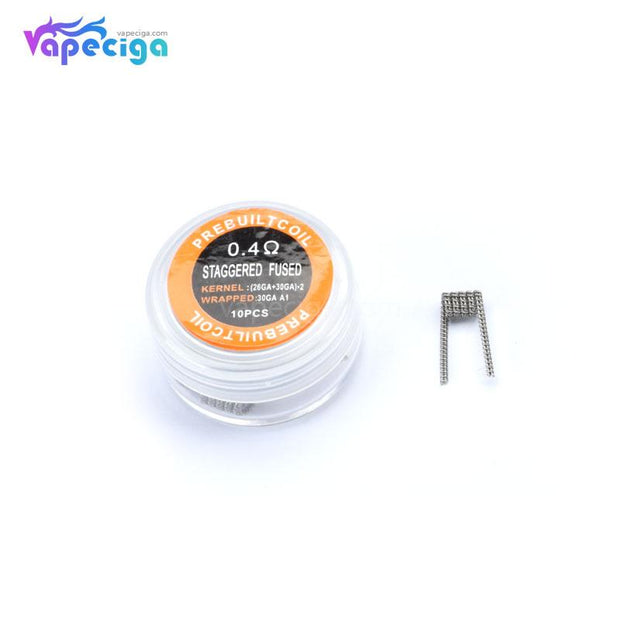 Prebuilt Coil Half Staggered Fused Clapton 10PCs