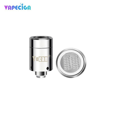 Silver Yocan Loaded Replacement Quartz Dual Coil 0.75ohm