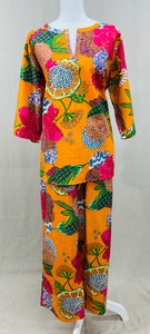 Tunic Top w/ Drawstring Pants - Dreamsicle in Delhi