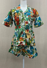 Load image into Gallery viewer, Short Sleeve Button Top w/ Shorts - Frida Kahlo