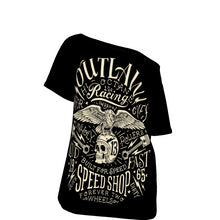 Load image into Gallery viewer, Outlaw All-Over Print Off-Shoulder T-Shirt