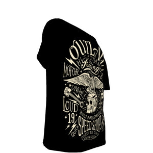 Outlaw All-Over Print Off-Shoulder T-Shirt