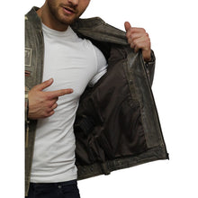 Load image into Gallery viewer, Men's Leather Biker Jacket Black - Infinity