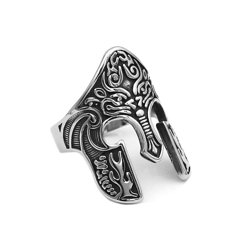 Norse Viking Warrior Mask Ring