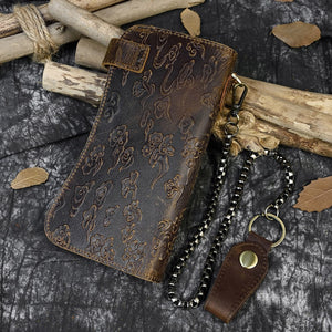 Men's Vintage Leather Chain Wallet