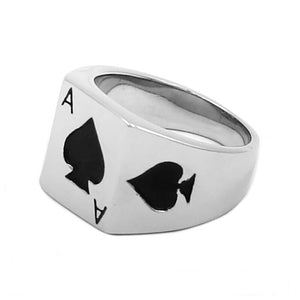 The Ace of Spades Ring Stainless Steel