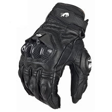 Load image into Gallery viewer, Leather Motorcycle Gloves, available in black or white