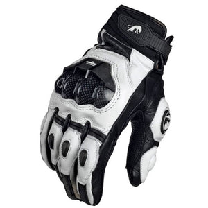 Leather Motorcycle Gloves, available in black or white