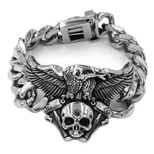 Load image into Gallery viewer, Engine Skull Eagle Bracelet Stainless Steel