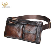 Load image into Gallery viewer, Quality Leather Travel Waist Bag