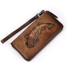 Load image into Gallery viewer, Vintage Men Genuine Leather Wallet