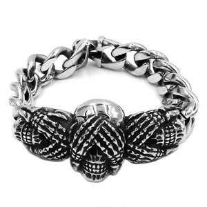 Hands Skull Bracelet Stainless Steel