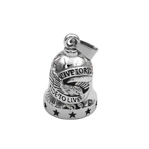 Live To Ride Eagle Biker Bell Pendan