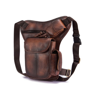 Real Leather Drop Leg Bag
