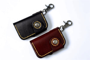 Hand Stitched Vegetable Tanned Leather Key Holder