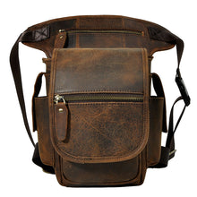 Load image into Gallery viewer, Genuine Leather Pack Drop Leg Bag