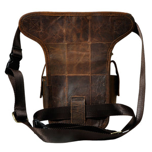 Genuine Leather Pack Drop Leg Bag