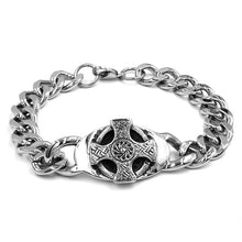 Load image into Gallery viewer, Stainless Steel  Celtic Knot Biker bracelet