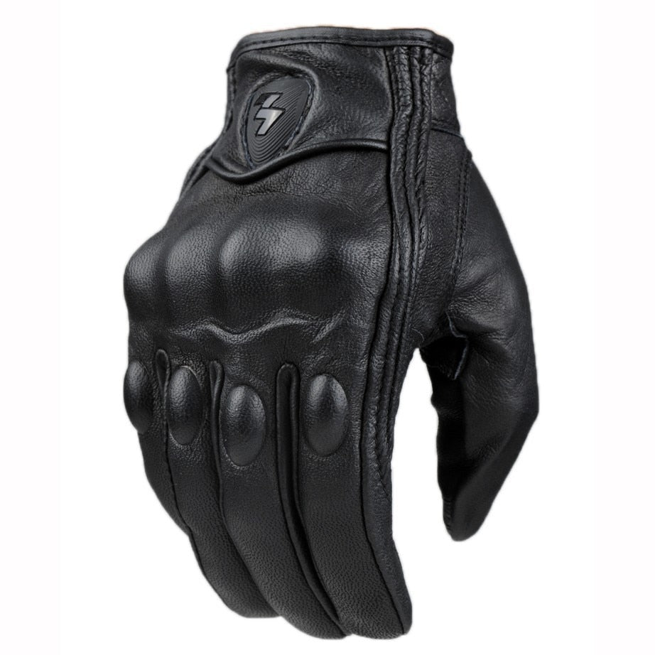 Retro Genuine Leather Motorcycle Gloves