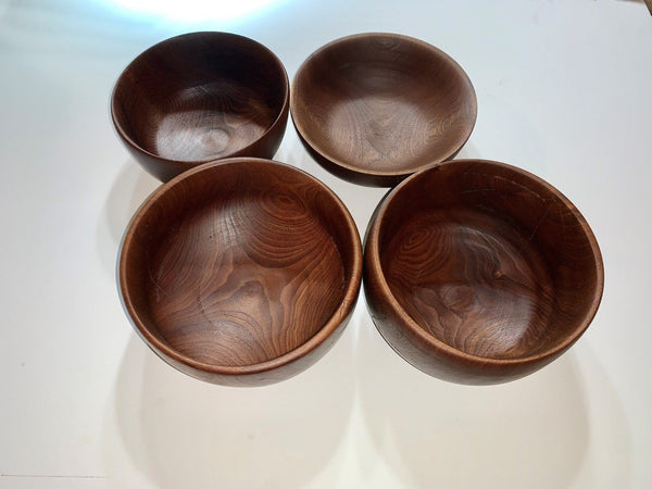 Hand-turned Black Walnut Bowl - Set of 4
