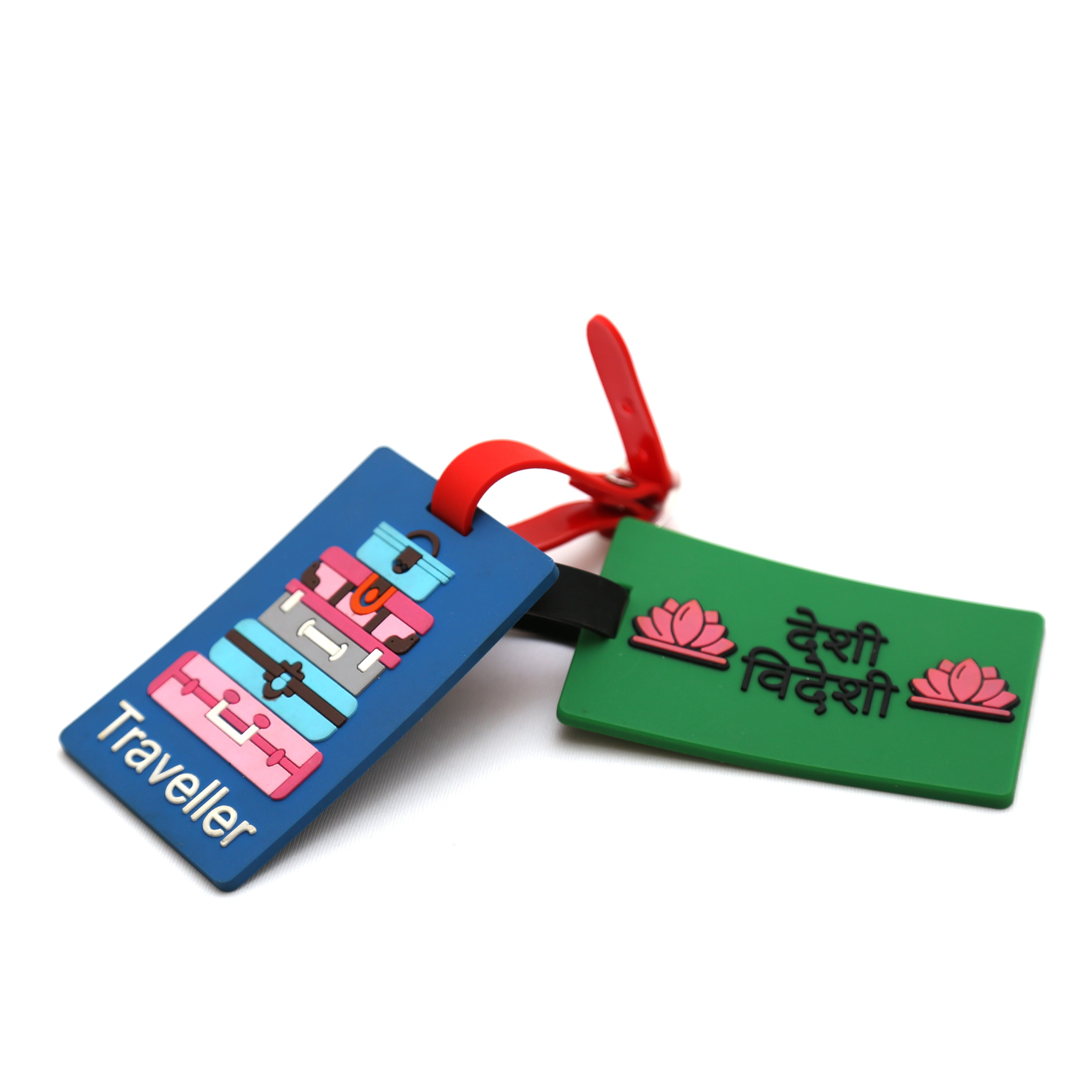 TRAVELLER AND DESI VEDESI LUGGAGE TAG COMBO