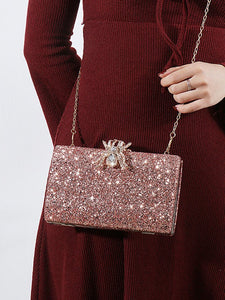 Rose-Gold-Color Elegant Alloy Clutches