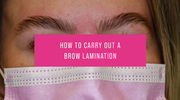 How to carry out a brow lamination