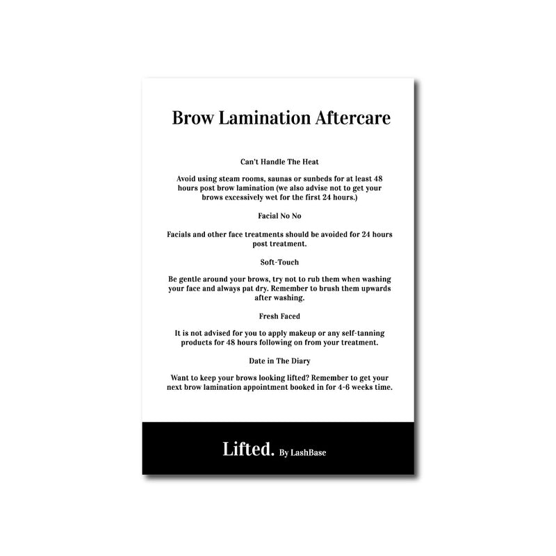 Lifted. Aftercare Advice Leaflets