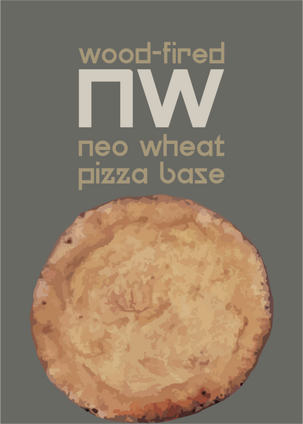 Whole Wheat Neapolitan Pizza Base, 100% Atta, 2pcs