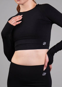 Nosara Seamless Long Sleeve Crop Top