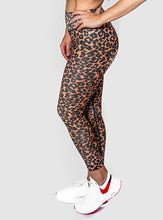 Load image into Gallery viewer, Exotic Animal Print Activewear Set Tan/Black