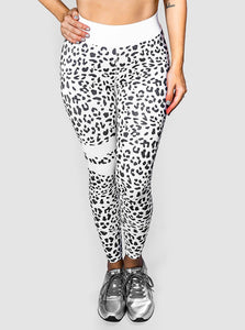 Exotic Animal Print Activewear Set White/Black