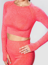 Load image into Gallery viewer, Nosara Seamless Long Sleeve Crop Top