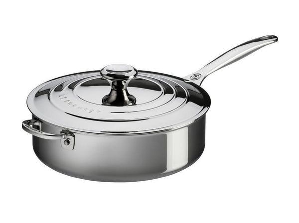 Le Creuset 4.3L Signature Stainless Steel Sauté Pan with Lid