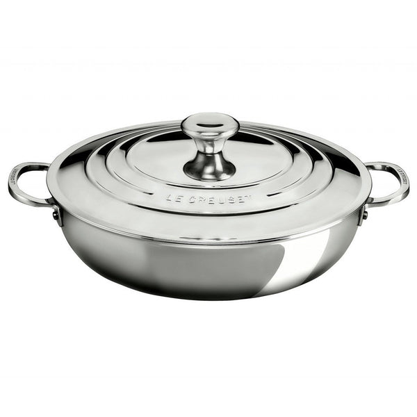 Le Creuset 4.8L Signature Stainless Braiser with Lid
