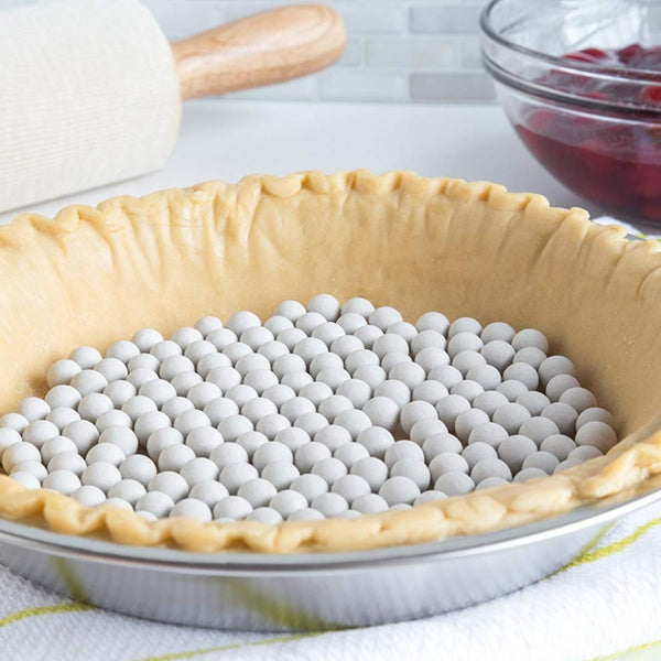 Ceramic Pie Weights with Storage Container - Cookery