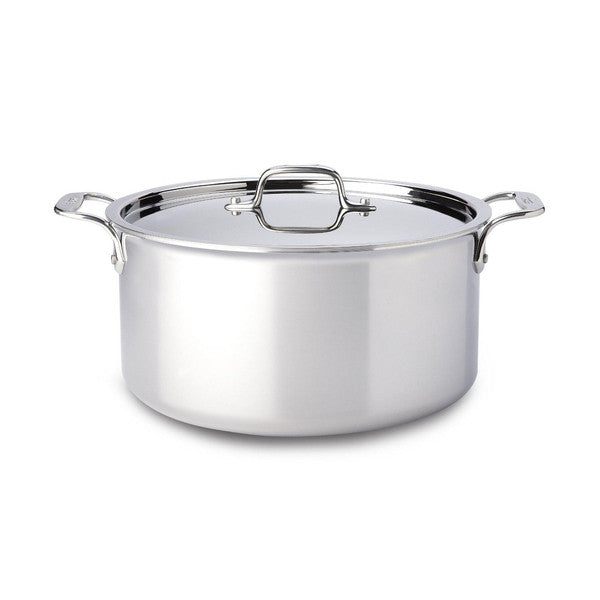 All-Clad 8Qt Stainless Steel Stockpot w/Lid - Cookery