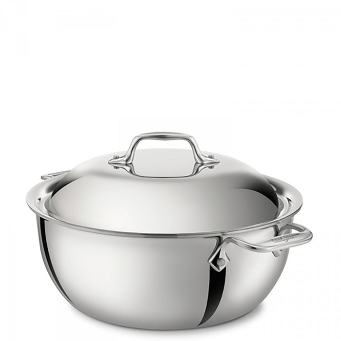 All-Clad d3 5.5 Quart Stainless Steel Dutch Oven with Lid