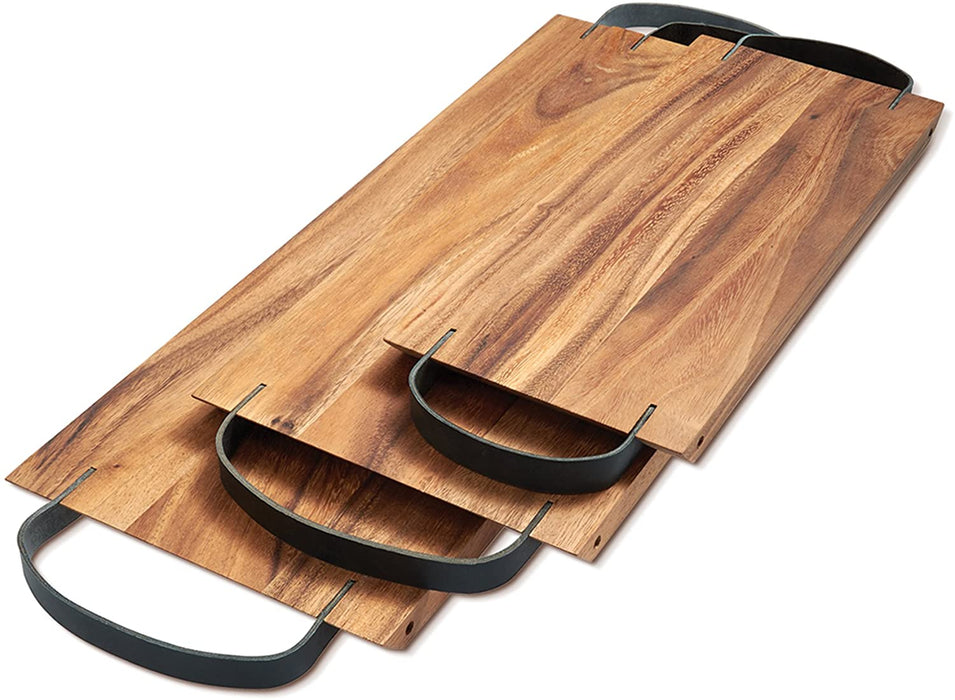 Ironwood Gourmet Serving Board with Leather Handles
