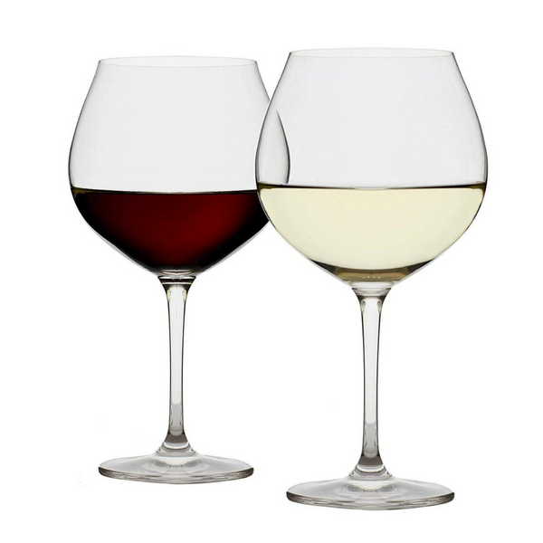 Crescendo Burgundy Glasses, Set of 4