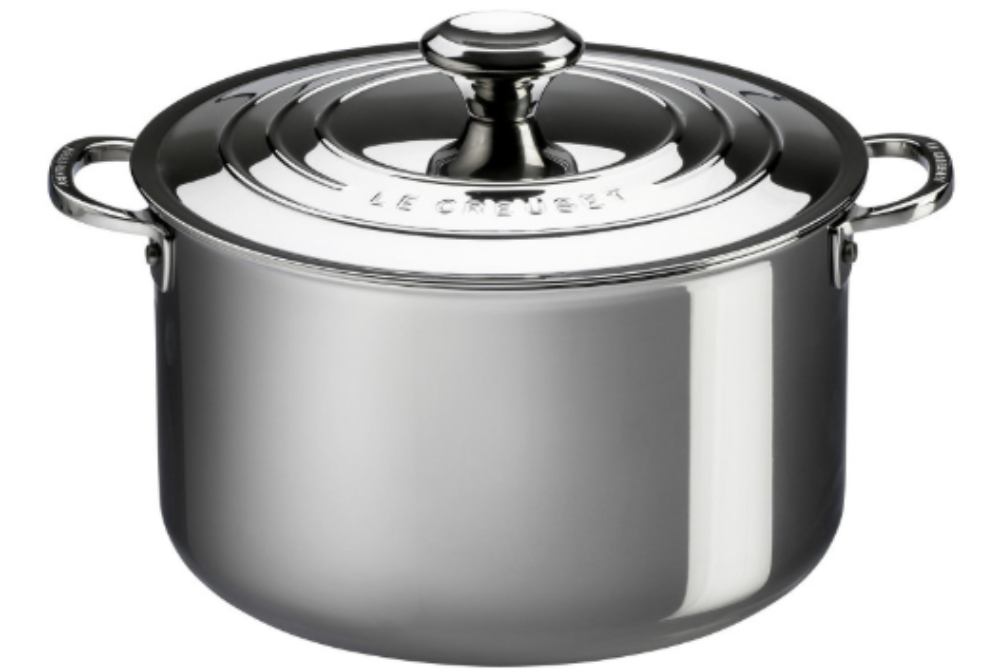 Le Creuset 6.6L Signature Stainless Steel Stockpot with Lid