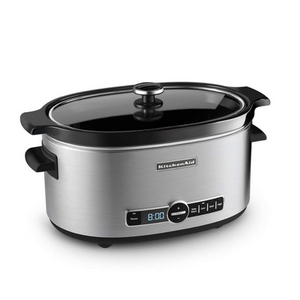 KitchenAid 6.5-Quart Slow Cooker with Solid Glass Lid