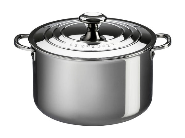 Le Creuset 10.2L Signature Stainless Steel Stockpot with Lid