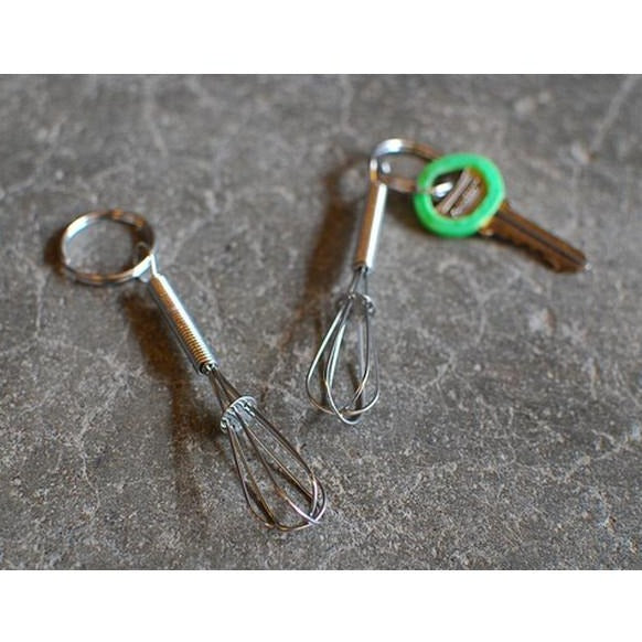 Stainless Steel Mini Whisk - keychain - Cookery
